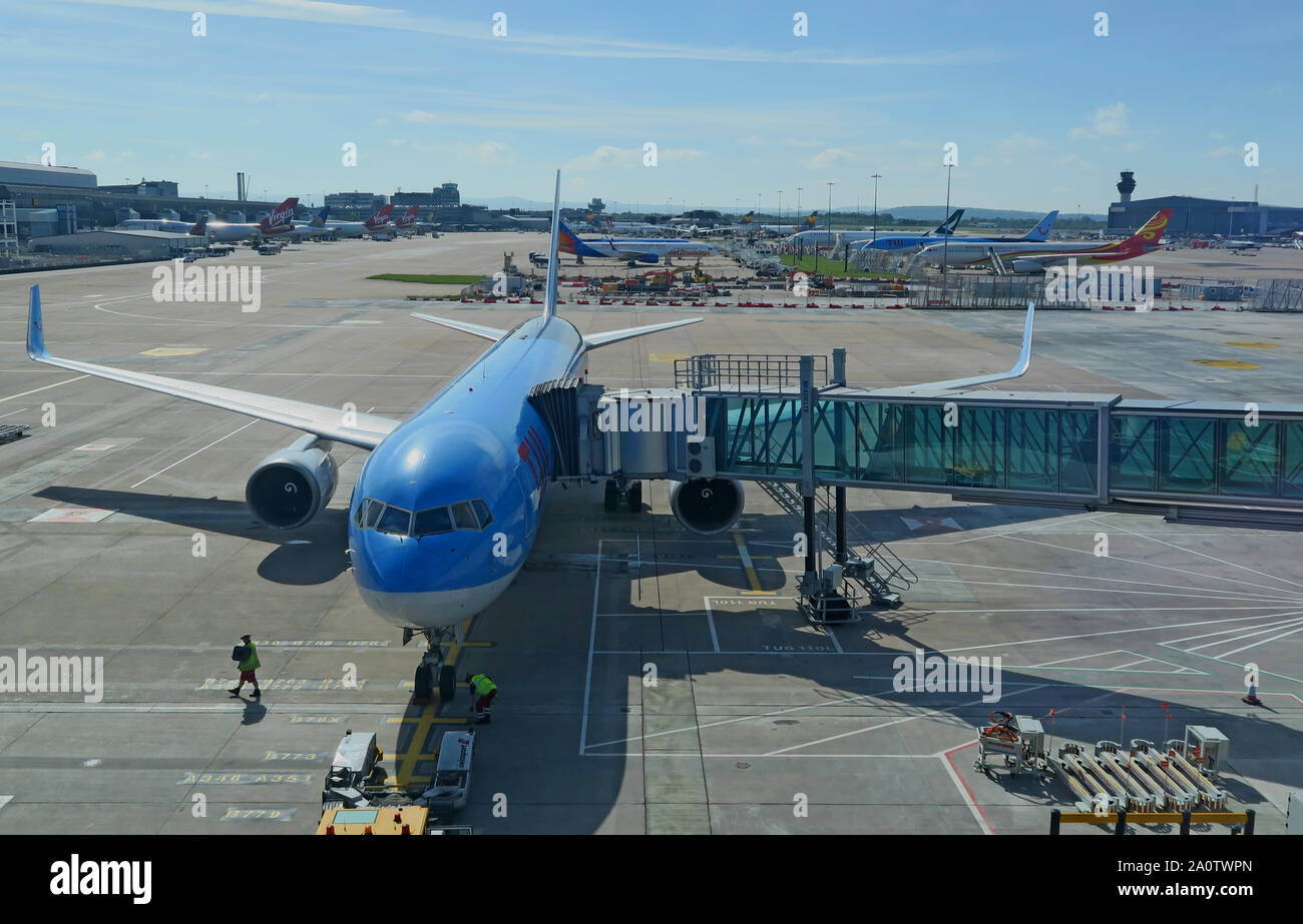 GoTonySmith,HotpixUK,@HotpixUK,MAN,MAG,apron,planes,jet,Boeing,Airbus,taxi,taxing,Ringway,UK,England,North West,TUI Aircraft,TUI Plane,TUIFly,TUI AG,tourism,charter,holiday,parked planes,Thomson Travel,Thomson,Hannover,family holidays,disruption,strike,G-OGYG tui 757-300,757-300,TUI Airways,Thomson Airways,Thomsonfly,charter routes