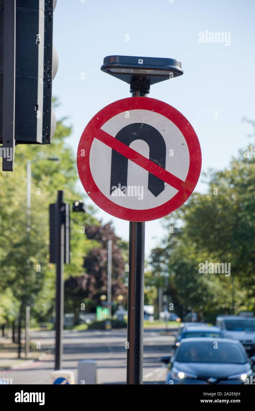 no-u-turn-sign-board-at-a-signal-junctio