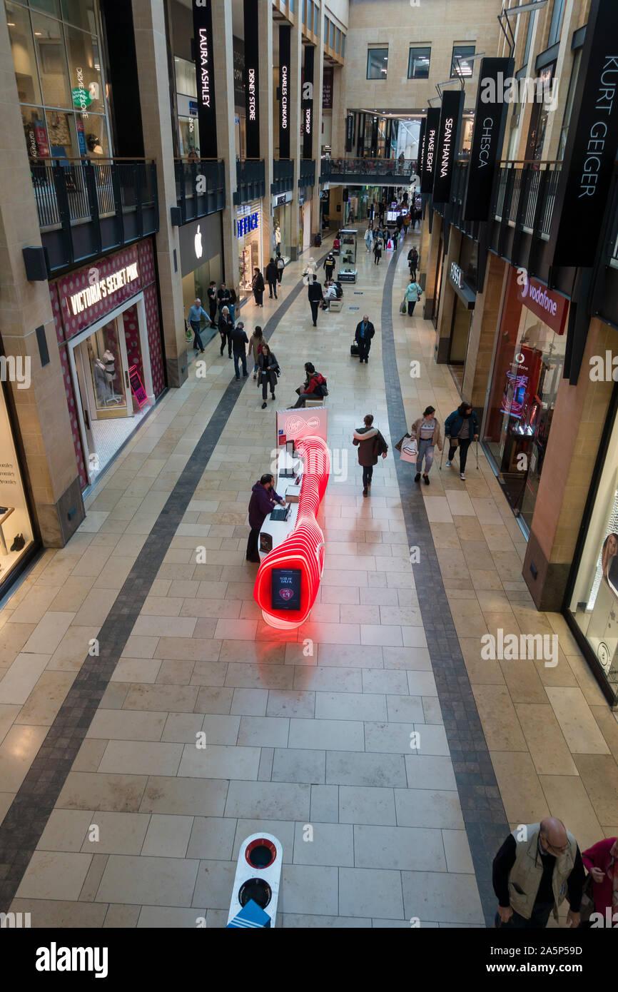 Grand arcade main thoughfare Cambridge 2019 Stock Photo