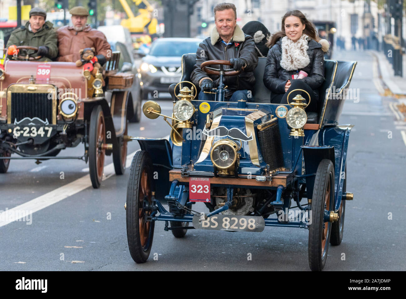 the-london-to-brighton-veteran-car-run-is-the-longest-running-motoring-event-in-the-world-with-the-first-taking-place-in-1896-organised-to-celebrate-the-passing-of-the-law-that-enabled-light-locomotives-to-travel-at-speeds-greater-than-4mph-and-removed-the-requirement-for-a-man-walking-in-front-with-a-flag-cars-entering-the-event-must-have-been-built-before-1905-setting-off-from-hyde-park-at-dawn-the-vehicles-travelled-through-london-before-heading-south-car-323-1904c-renault-2A7JDMP.jpg