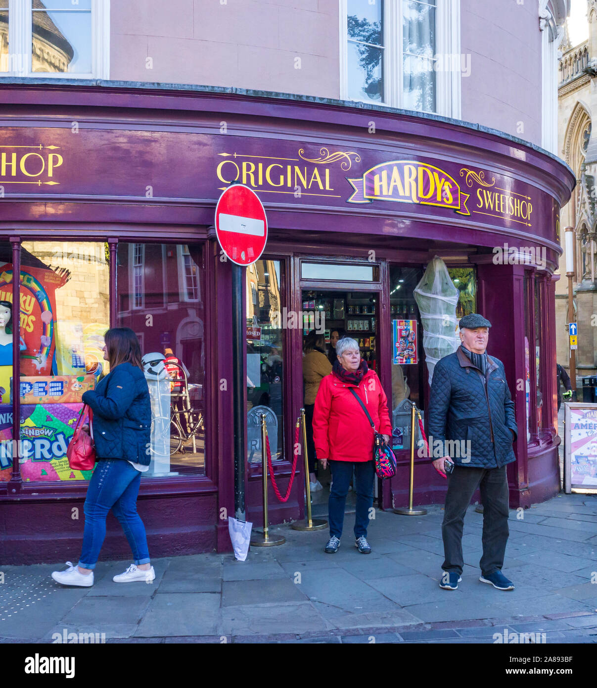 Hardys original sweet shop Bridge Street Cambridge City 2019 Stock Photo