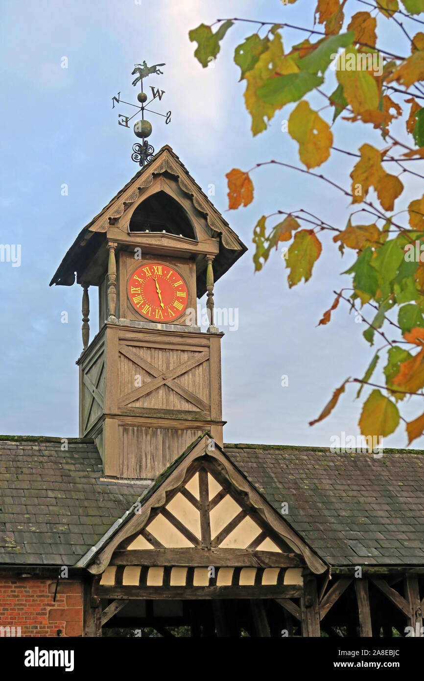 GoTonySmith,@HotpixUK,HotpixUK,Arley,Village,tower,leaves,time,Stockley Farm,building,hall,Jacobethan,Jacobethan House,wood,wooden,wooden clock tower,Arley Estate,19th Century,19th Century Clock Tower,avenue,entrance,single hand,one handed,one hand,Timber framed,Timber Frame,Grade I,Grade I listed,listed building,The Ride,Tudor barn