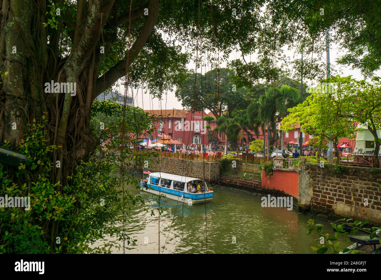 The historical city of Malacca in Malaysia Stock Photo