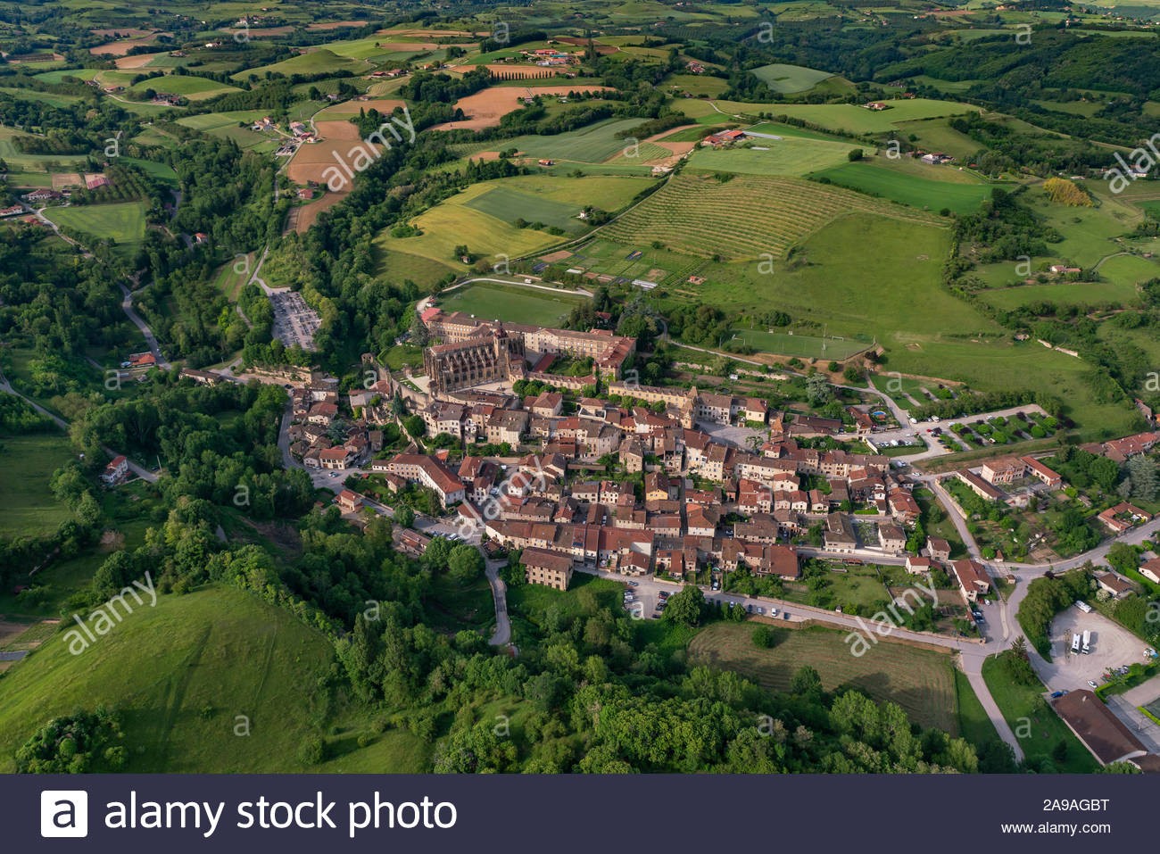 saint-antoine-labbaye-france-aerial-view
