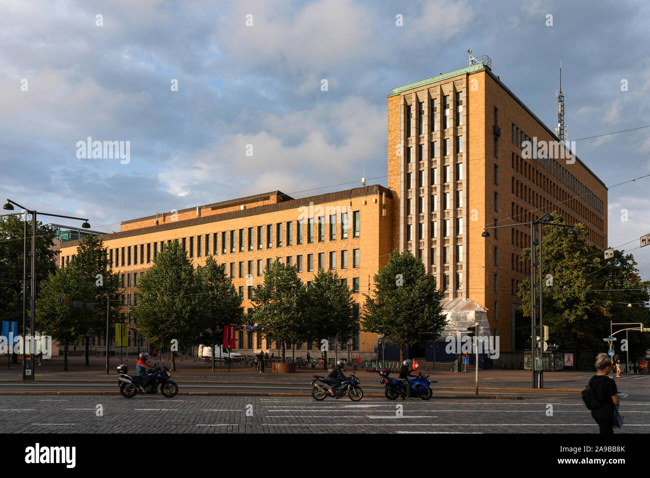 Postitalo, the former headquarters of Postal and Telecommunications Department, in Helsinki, Finland Stock Photo