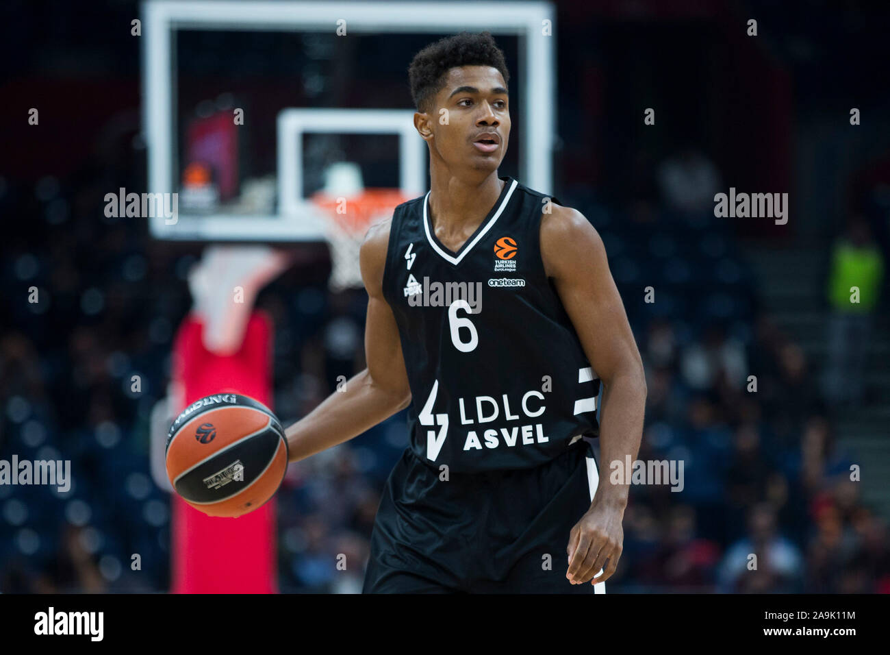 ASVEL Lyon-Villeurbanne's point guard, Theo Maledon could potentially be a lottery pick in the 2020 NBA Draft.   (Photo: Nikola Krstic/Alamy Live News)