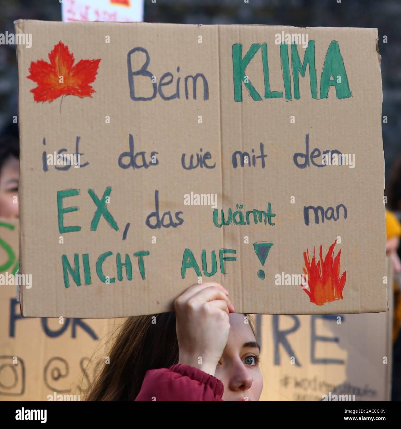 Cologne, Germany. 29th Sep, 2019. Activists marching for action on climate change and carrying signs in English and/or German to that respect. Reportedly approximately 20.000 people took part in that demonstration, Credit: hdh/Alamy Live News Stock Photo