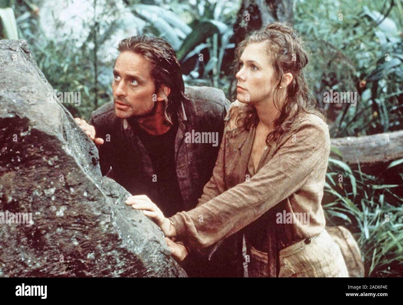 ROMANCING THE STONE 1984 20th Century Fox film with Michael Douglas and Kathleen Turner Stock Photo