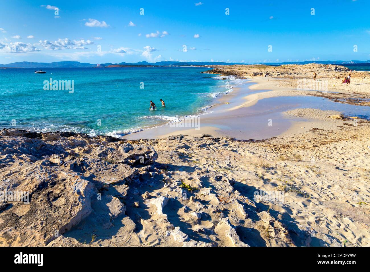 Platja de les Illetes, Formentera, Spain Stock Photo