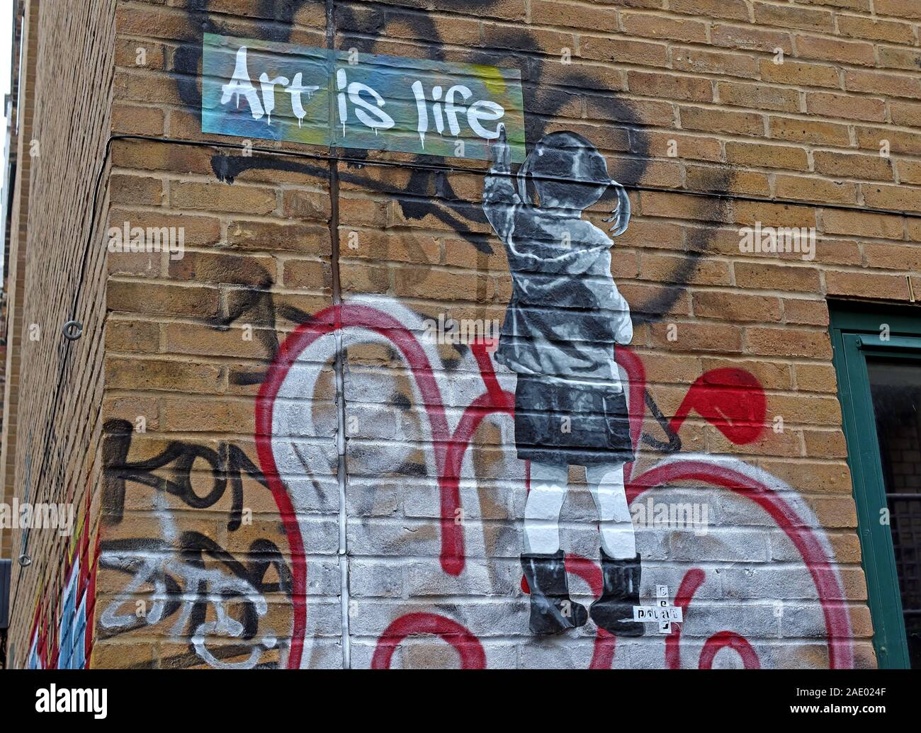 @Hotpixuk,HotpixUK,GoTonySmith,UK,England,painting,graffiti,spraying,art,girl,girl painting,pigtail,pigtails