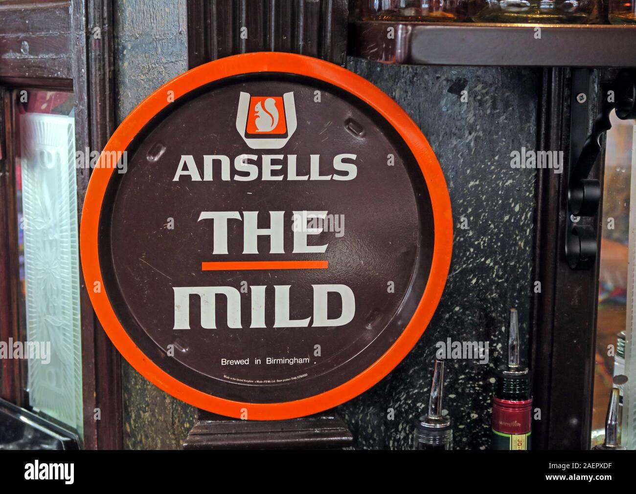 Ansells,England,UK,GB,ale,pub,logo,history,historic,JW Lees,Carlsberg UK,Midlands,orange,brown,mild beer,beer