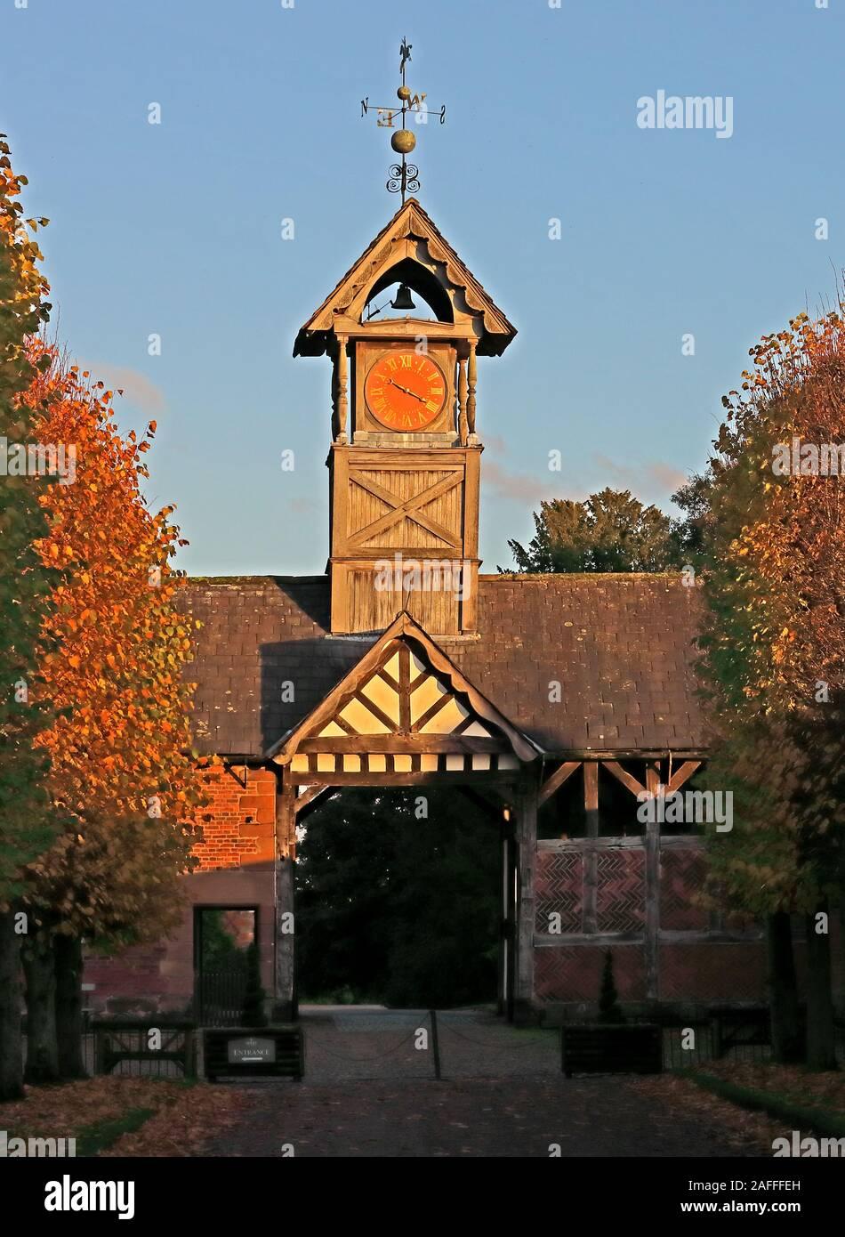 HotpixUK,GoTonySmith,CW9,Back Ln,Northwich,Cheshire,England,UK,CW9 6NA,Hall,village,time,timepiece,@HotpixUK,Viscount Ashbrook,autumn,canopy,19th century,arley hall,wooden clocktower,wooden clock tower,Arley Hall and Gardens,Arley Hall Gardens,country house,stately home,Cruck Barn