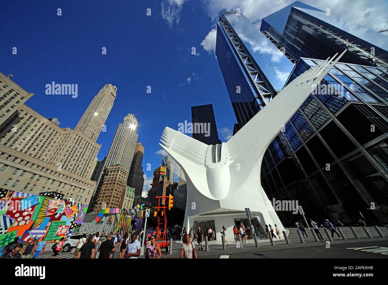 HotpixUK,@HotpixUk,GoTonySmith,NYC,NY,Manhattan,USA,city,city centre,US,building,buildings,new buildings,wide,wideangle,Freedom Tower,WTC,looking up,sky,skyward,museum,transportation hub,New York Skyline,Manhattan Skyline,9/11,water,skyline