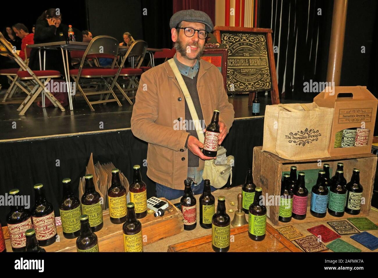HotpixUK,@HotpixUK,GoTonySmith,Somerset,SDC,Sedgemoor,South West England,England,UK,South West,town,TA6,Food and Drink,festival,cider,food stalls,stalls,drink stalls,tastings,organic,Bridgwater town hall,townhall,venue,Bridgwater Town Team,ale,beer,The Incredible Brewing Company,Incredible Brewing Company,brewery,brewing,holding a bottle,bottled,bottled beer