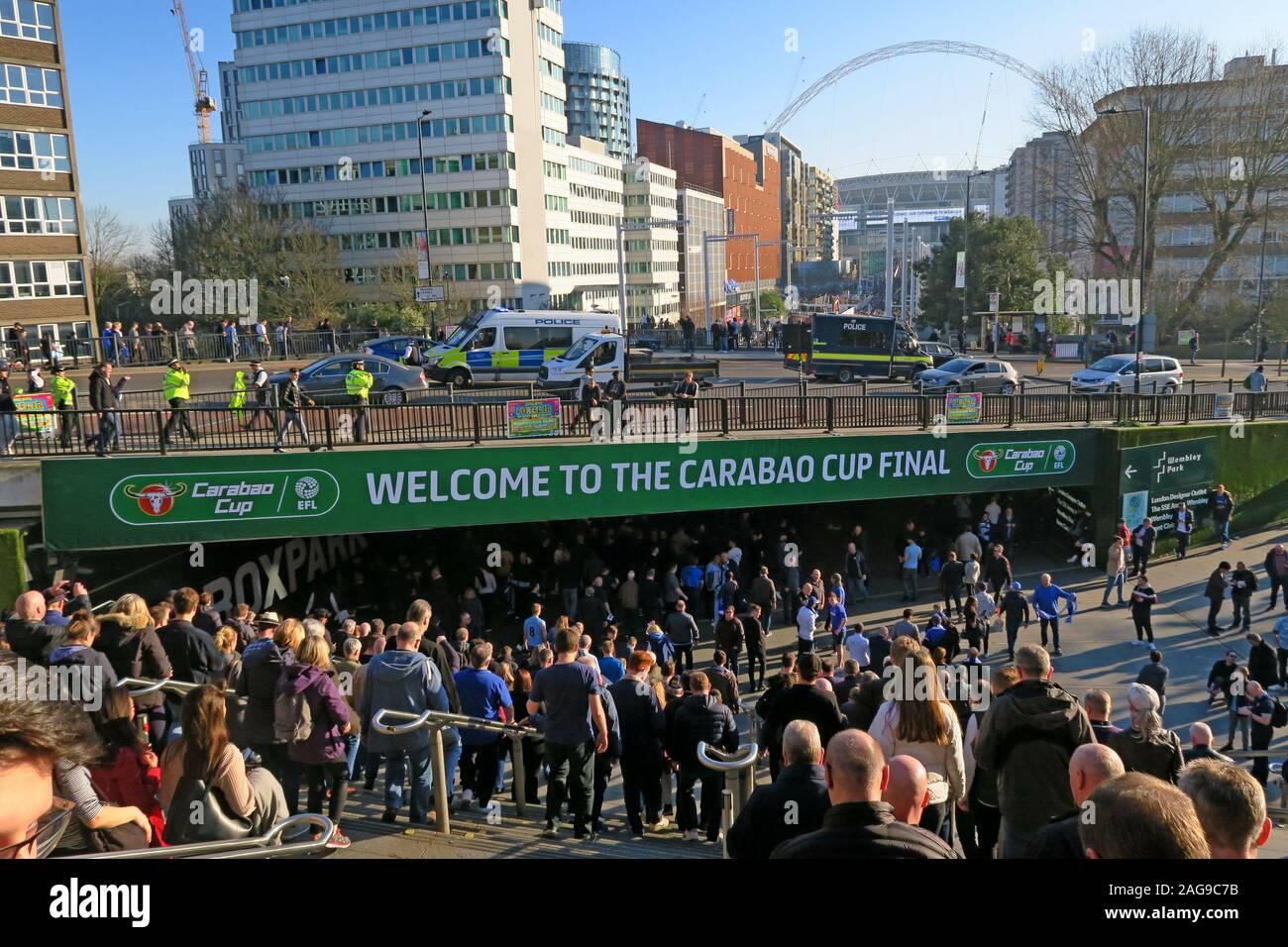 HotpixUk,@hotpixUK,GoTonySmith,Wembley,North London,England,UK,Wembley Stadium,HA9,Mancs,Mancunians,Manchester City Fans,MCFC fans,English Football League,2019,cup final,Manchester City,Chelsea,final,Manc,loyal fans,soccer,Carabao,match,London,fans,stadium,season ticket owners,crowds,flags,crowd,flag,cup,EFL,blue flags,EFL Cup,pitch