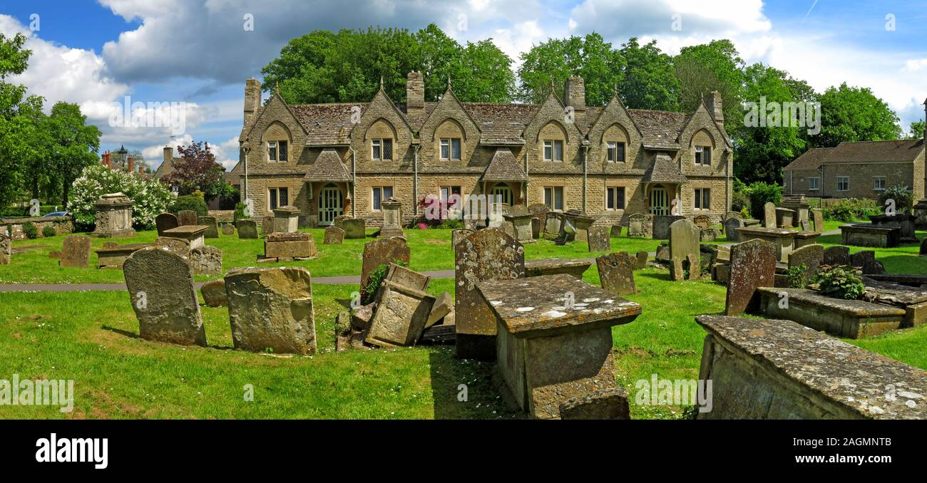 Almshouses,Church Green,Witney,OxonThese almshouses are at the southern end of Church Green,overlooking,part,of,the,graveyard,of,St.,Marys,Church.,These,almshouses,were,originally,built,in,1724,for,six,widows,of,blanketmakers.,They,were,rebuilt,in,1868,by,William,Wilkinson,of,Oxford,in,Gothic,style.,overlooking,part,of,the,graveyard,of,St.,Marys,Church.,These,al