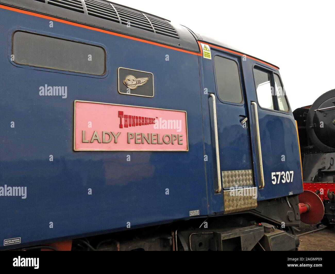 HotpixUK,@HotpixUK,GoTonySmith,Crewe works,rail,railway,trains,engine,transport,history,BR,British Railways,UK,Great Britain,Crewe,Cheshire,England,Class 57,Class57,IR,pink,plaque,Thunderbirds,Lady Penelope,blue,diesel engine,loco,Engine 57307,DRS,Brush Traction,Cable Thieves Were Watching You,vinyls,Cable Thieves,we,are,Watching You,nameplate,name plate,Crewe Works