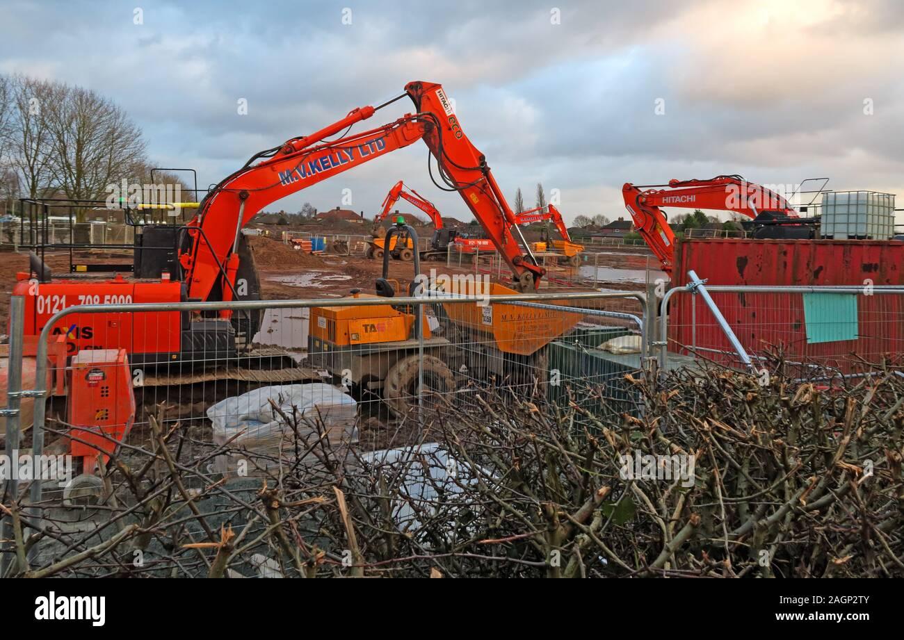 HotpixUK,@HotpixUK,GoTonySmith,Cheshire,England,Uk,WA4 4RQ,Construction site,Appleton Thorn,building,homes,houses,fence,bulldozer,JCB,site