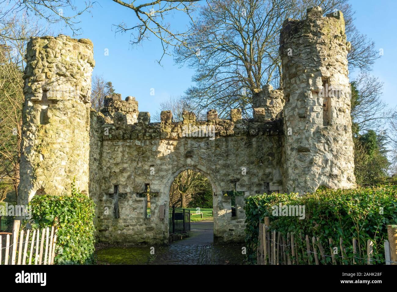 Reigate Castle, Reigate, Surrey, UK Stock Photo