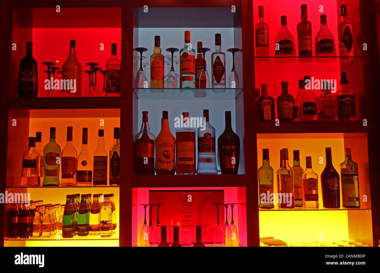 Edinburgh,HotpixUK,@HotpixUK,GoTonySmith,drinking,abuse,Alcohol,bright,attractive bar,multicoloured backlit bar,multicoloured,backlit,Whisky,Brandy,Liquors,bitters,mixers,fun bar,red,blue,yellow,orange,nightlife,club,tempting,temptation,fancy a drink,have a drink,bottles,bottles of spirits,drink,drinks,beverage,bourbon,fun,background,elegant