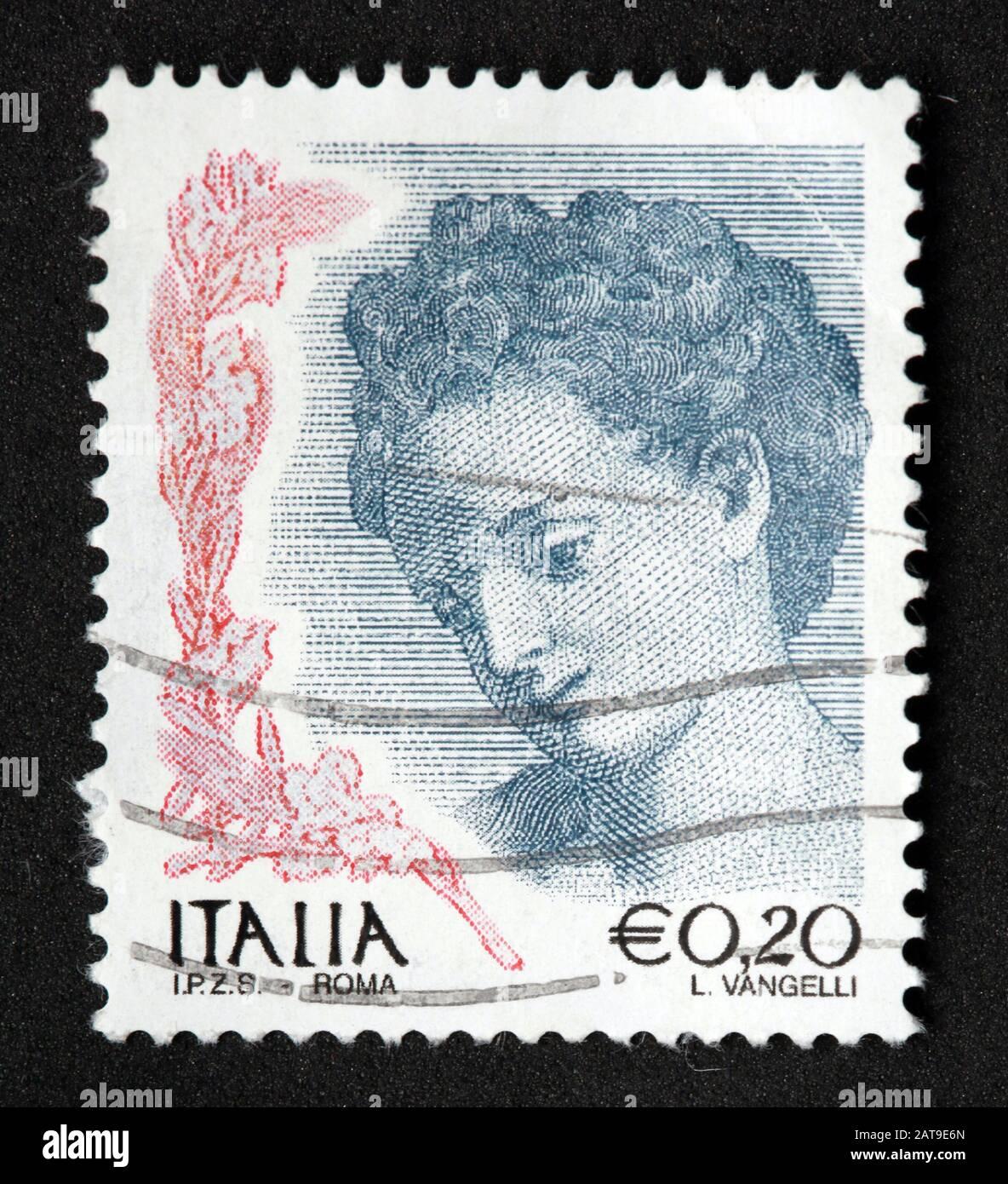 Hotpixuk,@Hotpixuk,GoTonySmith,stamp,postal,franked,frank,used stamps,used franked,used,franked stamp,from envelope,history,historic,old,Italy,Italian,Italia,Italy Stamp,italian stamp,franked Italian stamp,used Italian stamp,Italy stamp,face,portrait,E0.2,20c,20cent stamp,20c stamp,woman,female