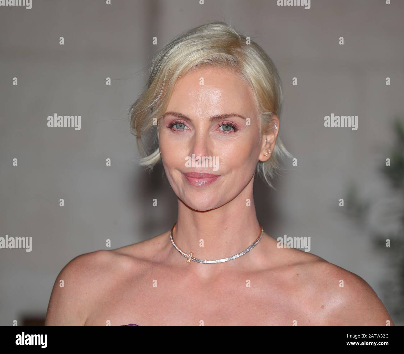 American-South African Actress Charlize Theron attends the EE BAFTA after-party dinner at the Grosvenor House Hotel in London, UK Stock Photo