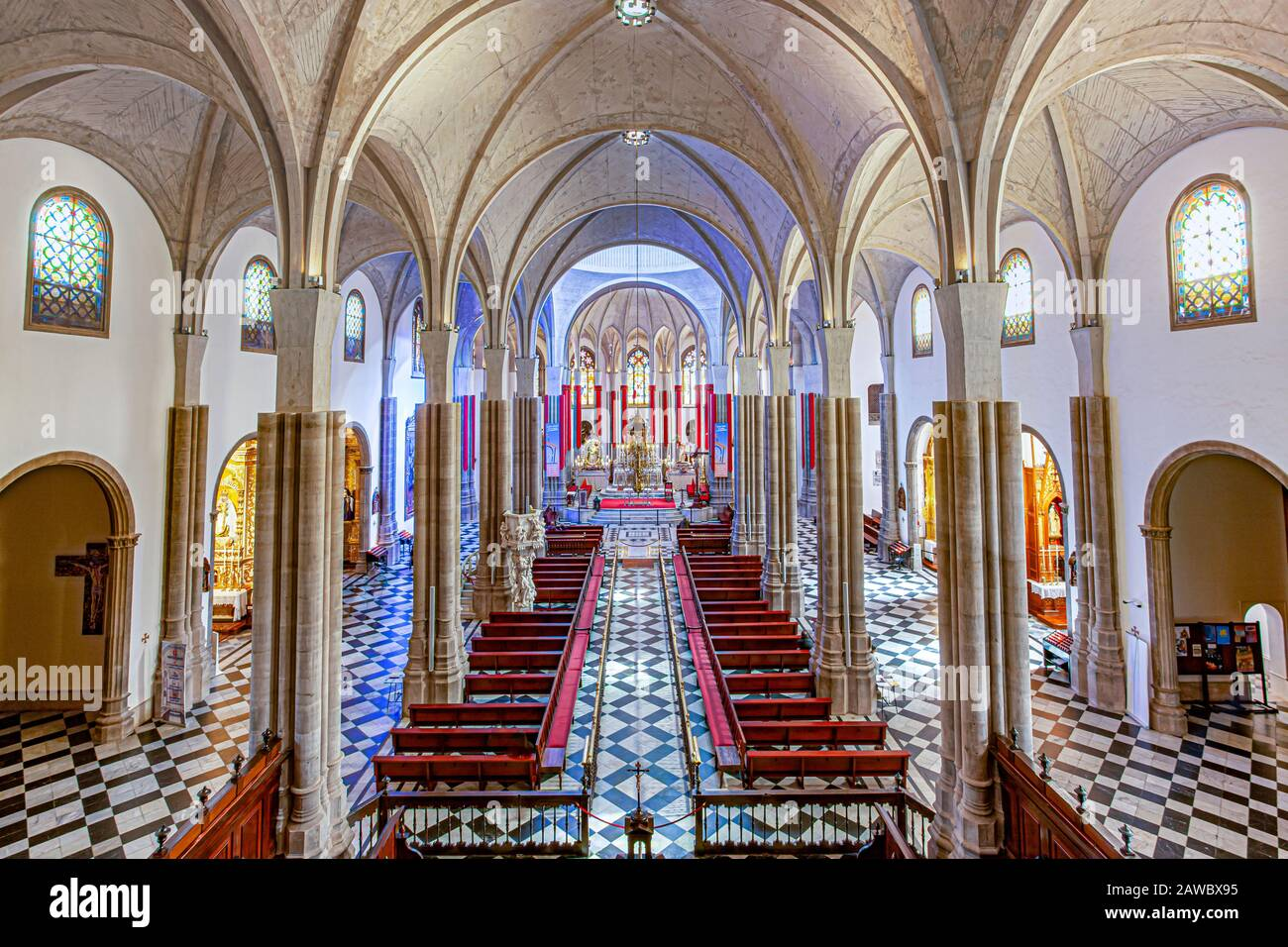 interior of The Cathedral of San Cristobal de La Laguna or Cathedral of Our Lady of Remedies ia Roman Catholic church in Tenerife Stock Photo