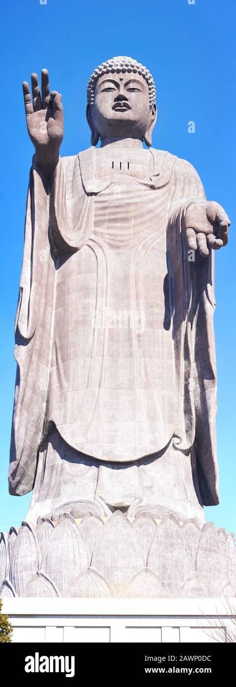 the-bronze-ushiku-daibutsu-great-buddha-with-hands-in-vitarka-mudra-stands-on-a-clear-winter-day-in-ushiku-ibaraki-japan-2AWP0DC.jpg