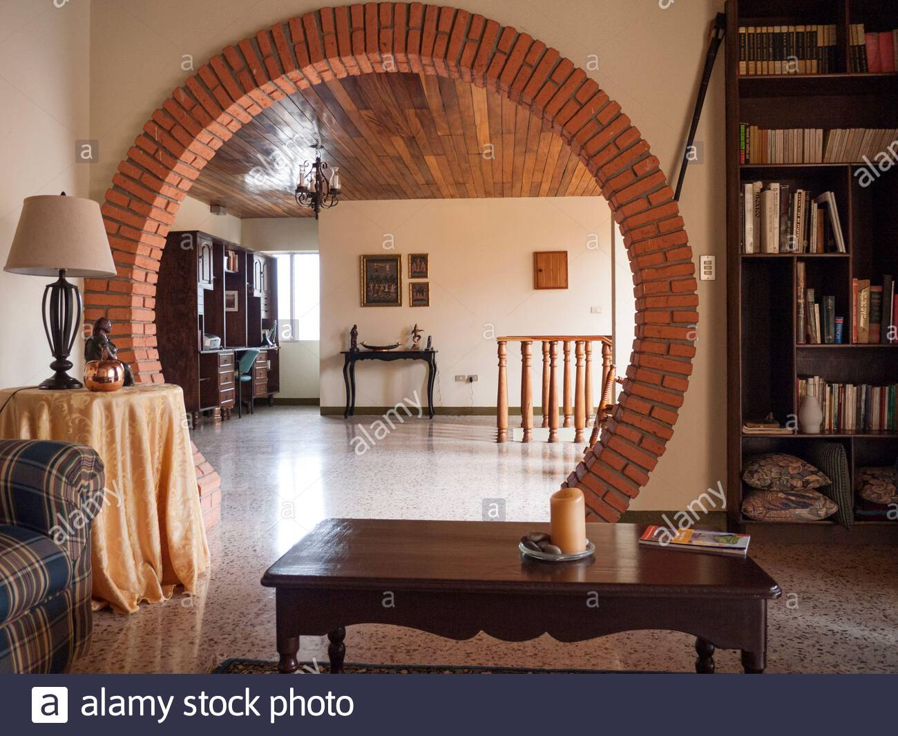 Details of an upper middle class house in Jinotega, Nicaragua, that was briefly used as a hotel. Stock Photo