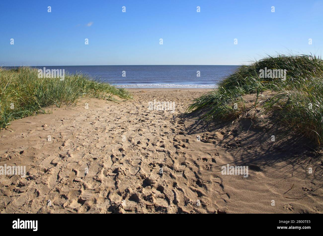 gibralta point nature reserve and beach on the lincolnshire coast Stock Photo