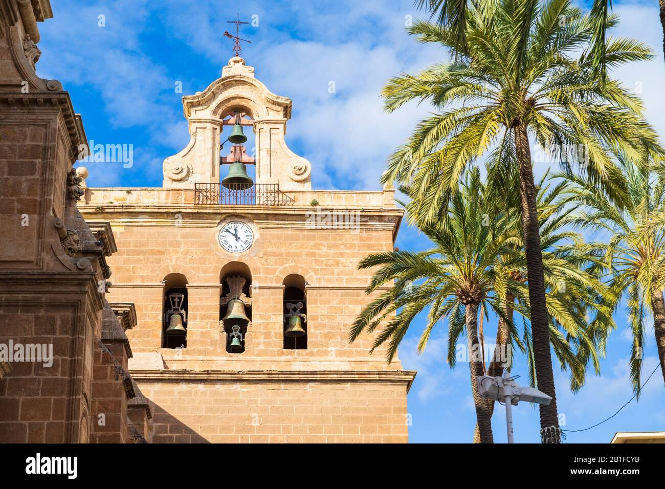 Cathedral of the Incarnation of Almeria, Roman Catholic cathedral in the city of Almeria, spain Stock Photo
