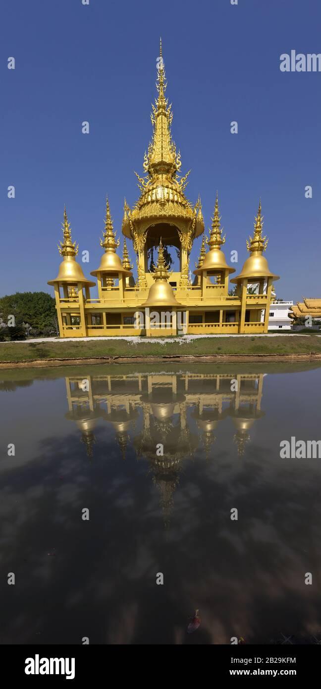 gold-yellow-temple-exterior-vertical-pan