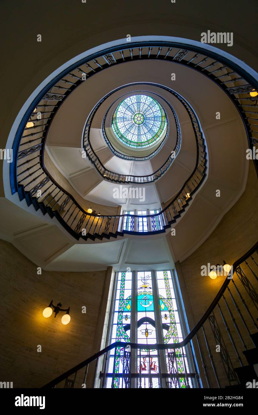 the-spiral-staircase-and-skylight-in-the