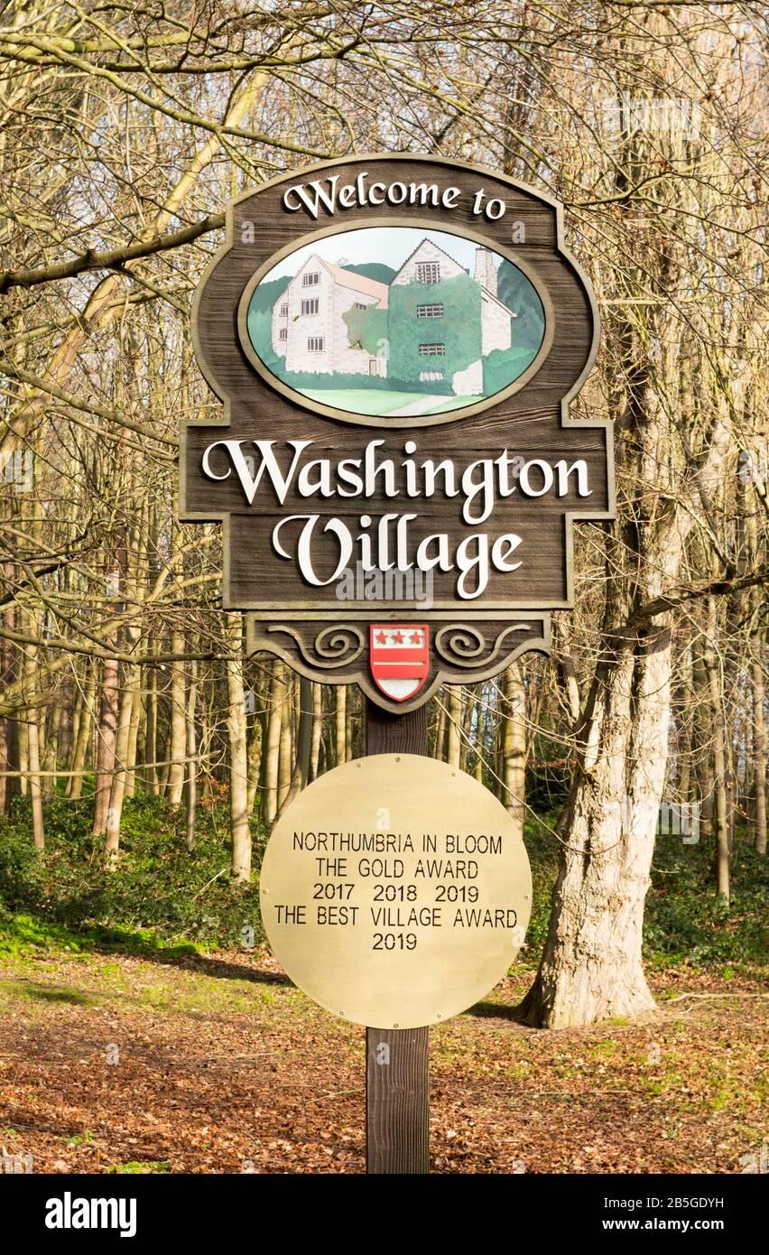 washington-village-sign-showing-gold-awa