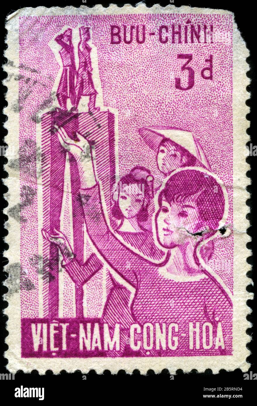 Trung Sisters' Monument and Vietnamese Women Stock Photo