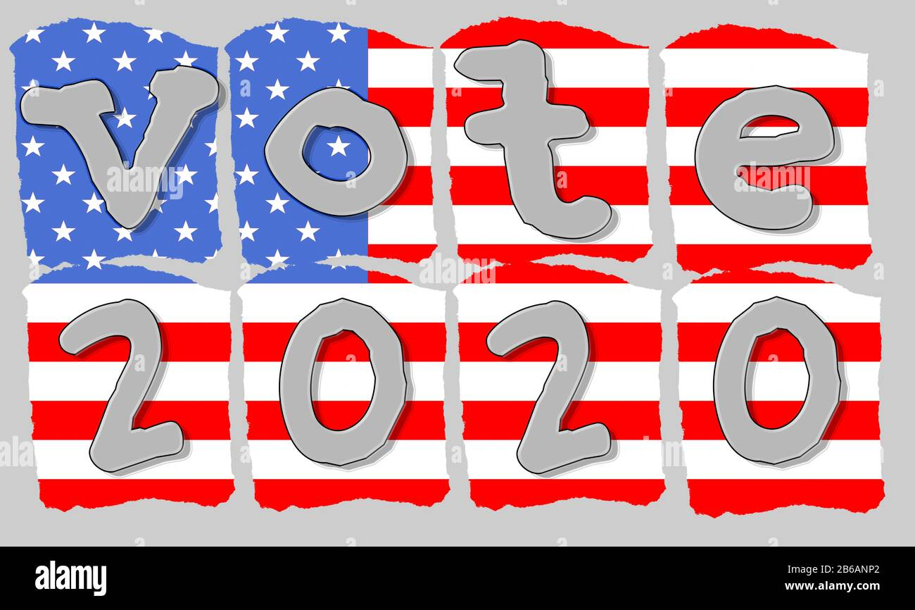 authentic-silver-hand-lettering-style-typography-vote-2020-on-red-white-and-blue-stylized-american-flag-democratic-primary-and-election-day-in-the-2B6ANP2.jpg