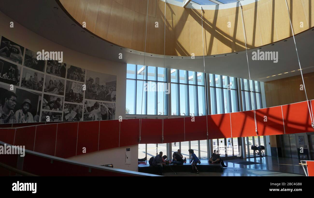 Ed Roberts Campus, community center for disability education. The Universal Design architecture gives access to those with disabilities. Berkeley, CA. Stock Photo