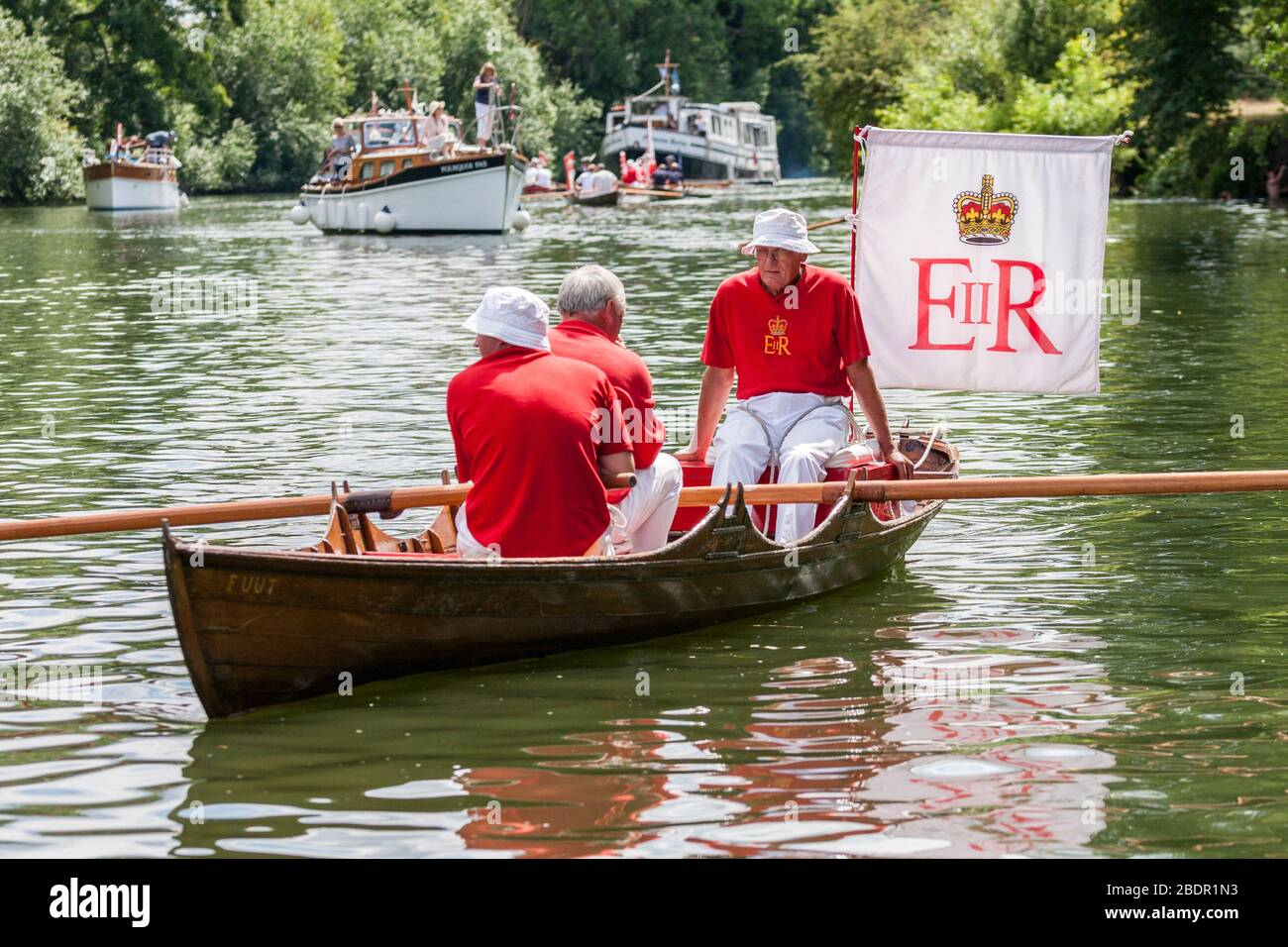 Queens Swan Uppers on the River Thames Stock Photo