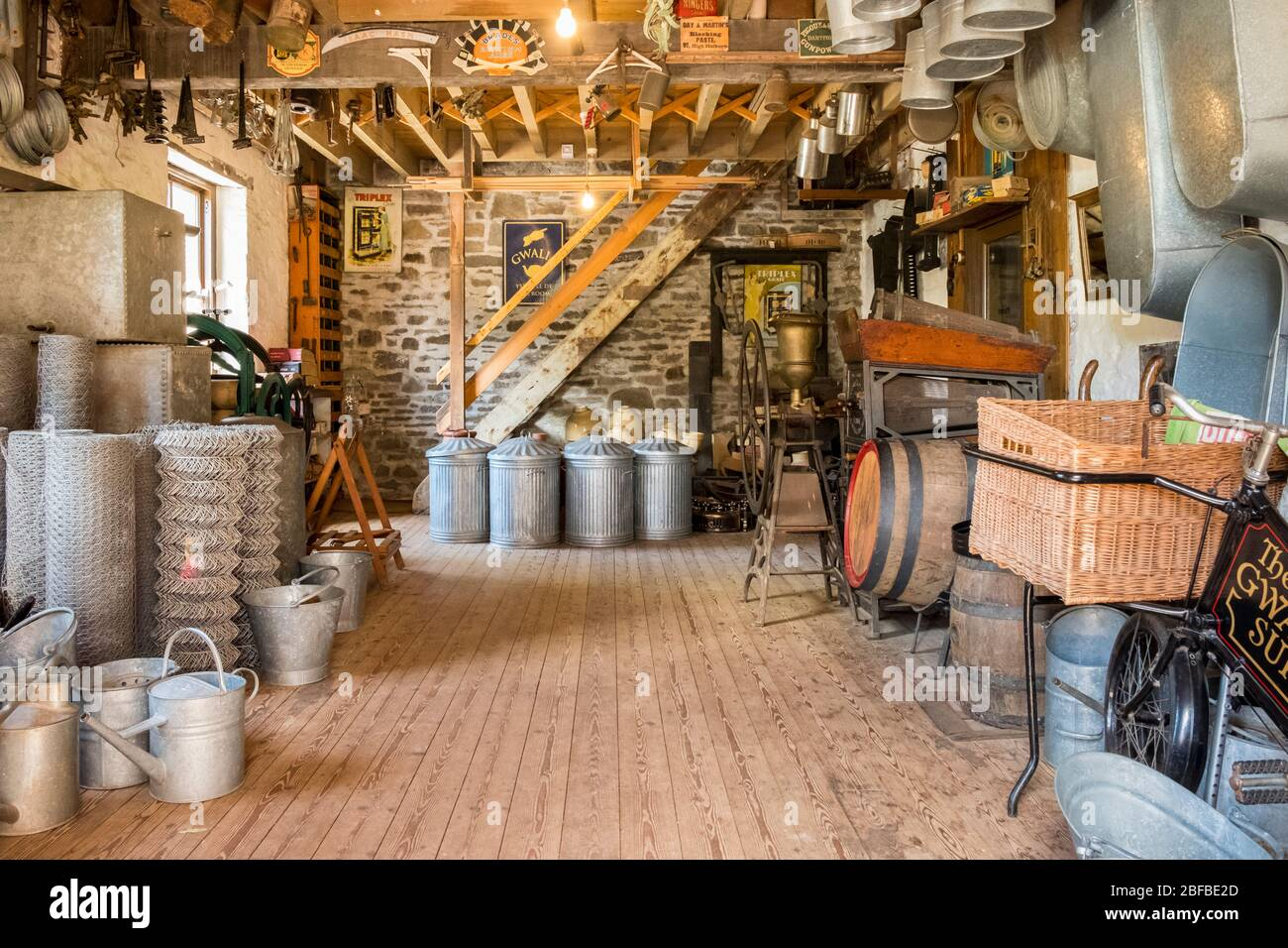 Gwalia Stores at St Fagans National Museum of History, Cardiff, Wales, GB, UK Stock Photo