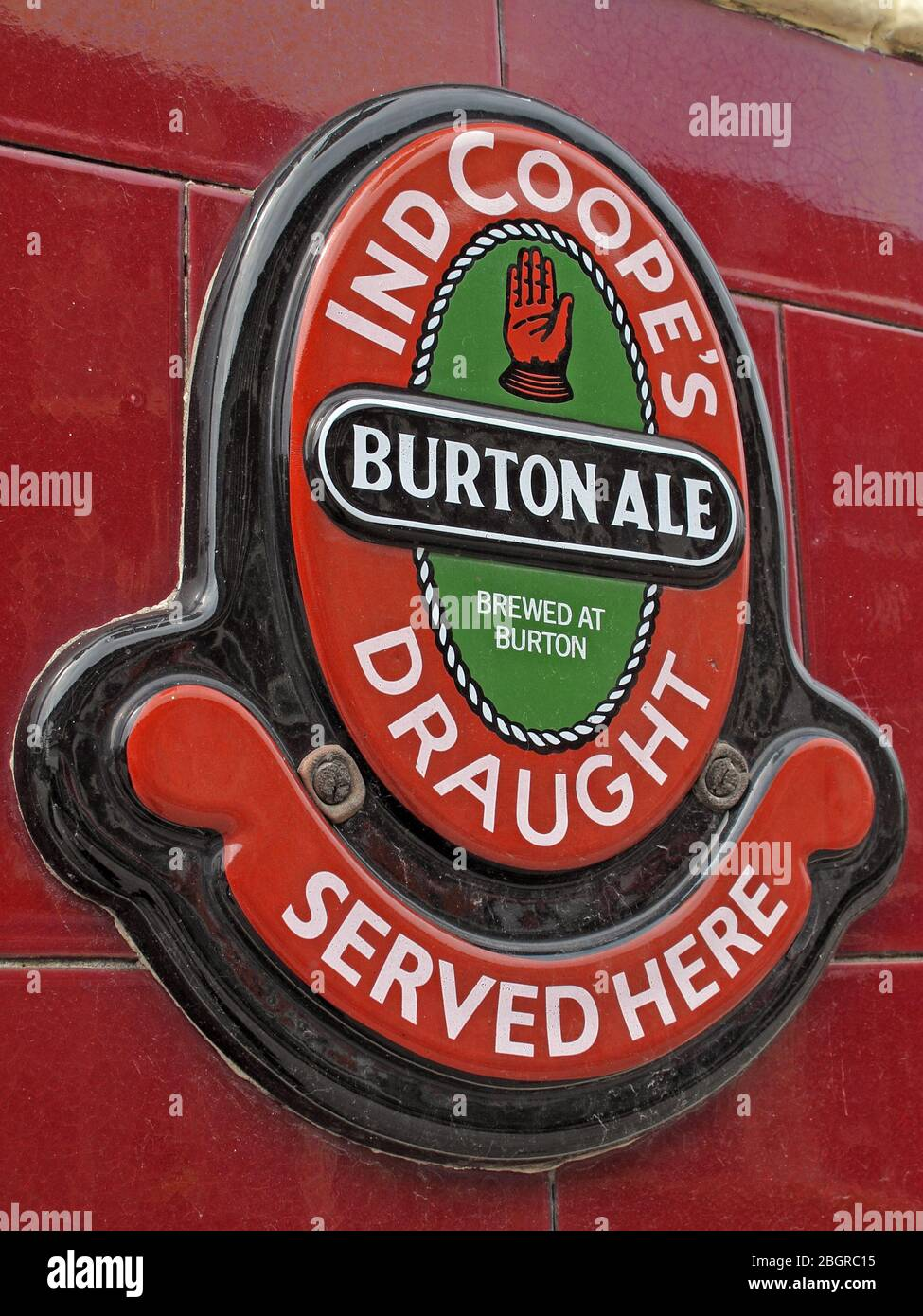 @hotpixuk,Hotpixuk,GoTonySmith,Historic tiled sign,Burton Ale,brewer,brewers,ale,bar,pub,bitter,traditional,English,bitter beer,pub sign,England,UK,red,green