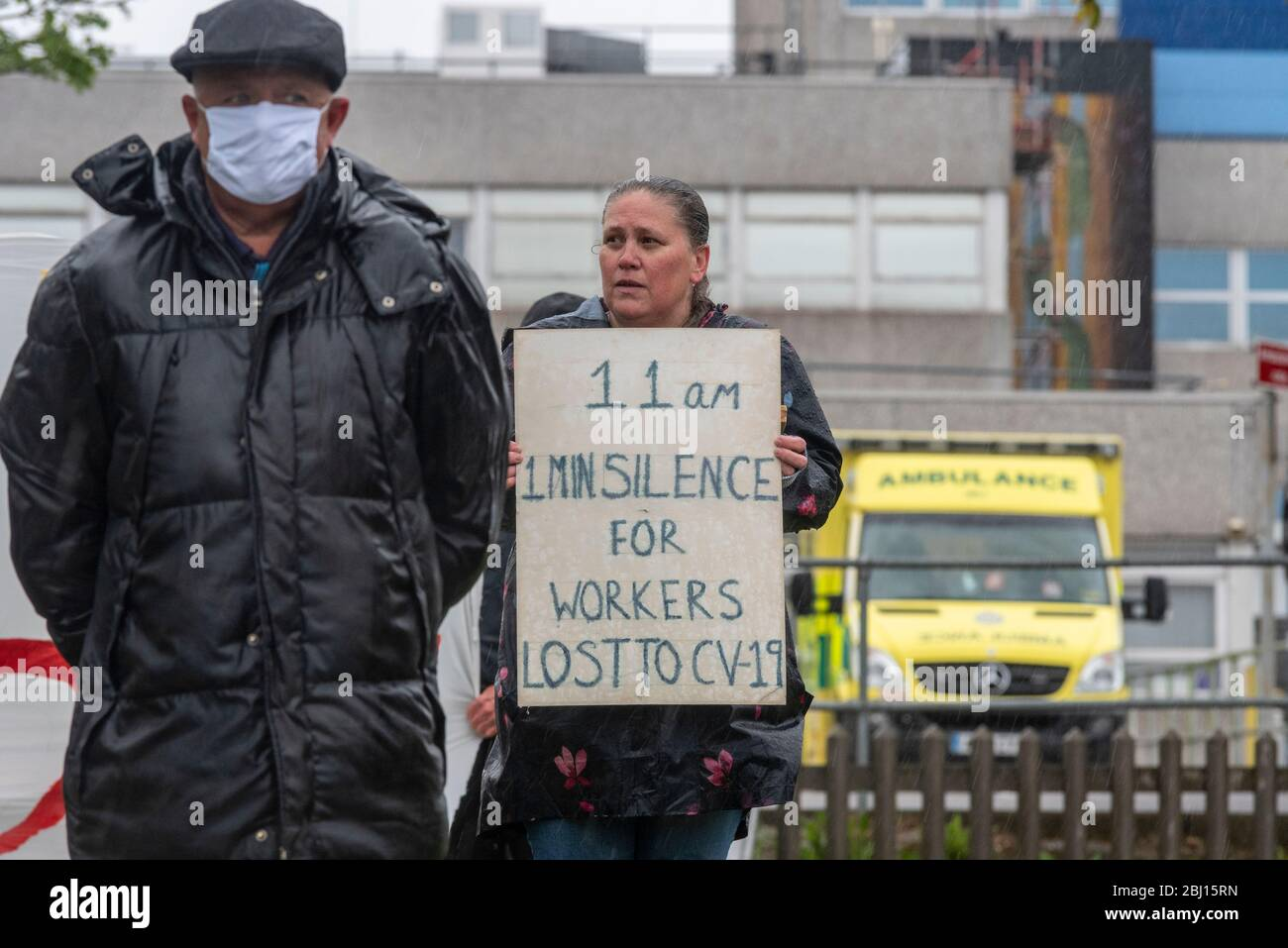 southend-university-hospital-southend-on-sea-essex-uk-28th-apr-2020-on-international-workers-memorial-day-a-one-minutes-silence-took-place-at-11am-to-remember-the-health-and-social-care-and-other-key-workers-that-have-died-as-a-result-of-the-covid-19-coronavirus-pandemic-pairs-of-shoes-have-been-placed-on-the-green-outside-southends-hospital-as-a-visual-reminder-of-the-more-than-one-hundred-frontline-staff-who-have-lost-their-lives-including-a-number-from-southend-2BJ15RN.jpg