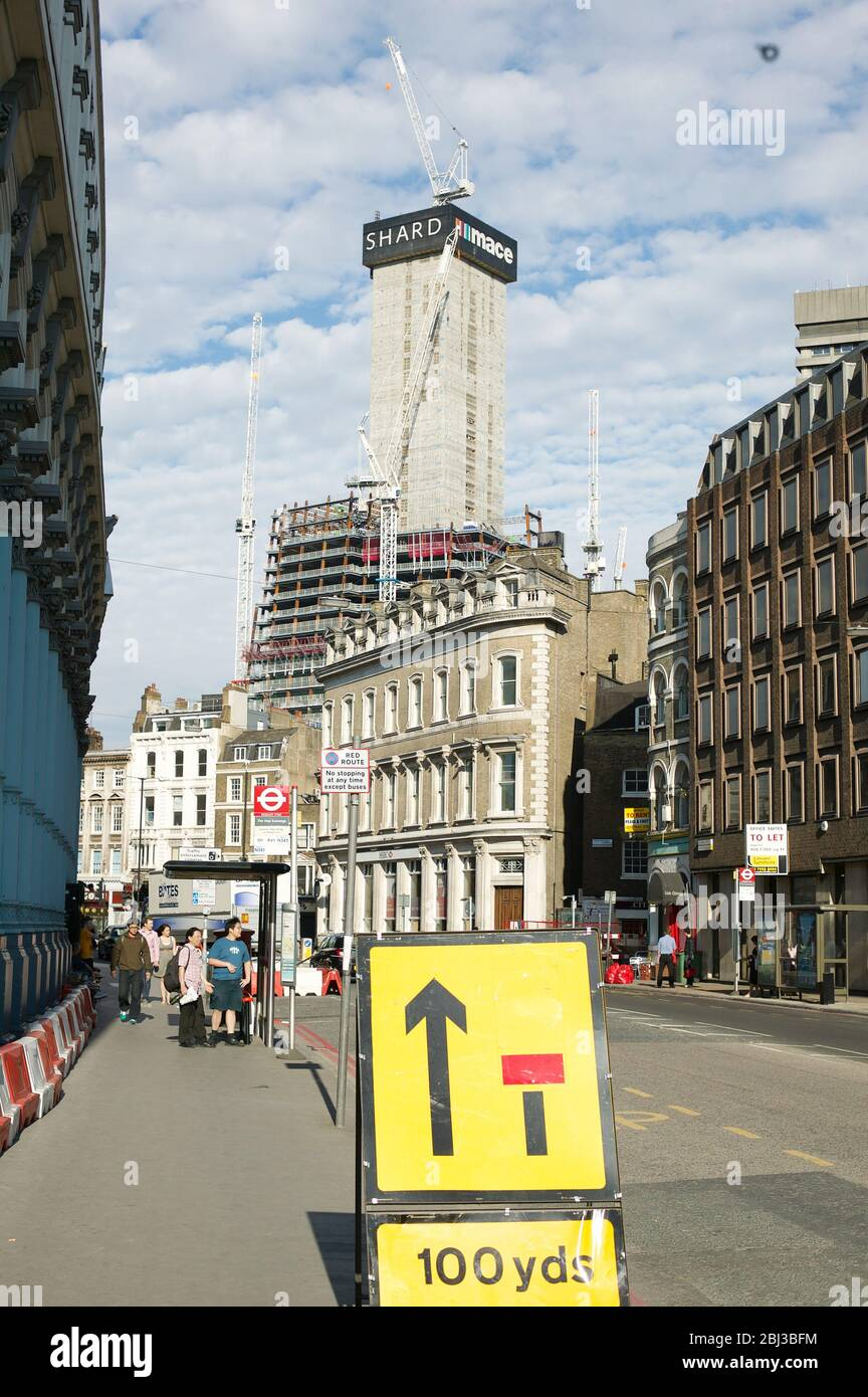 The construction of the Shard, London, July 2010 Stock Photo