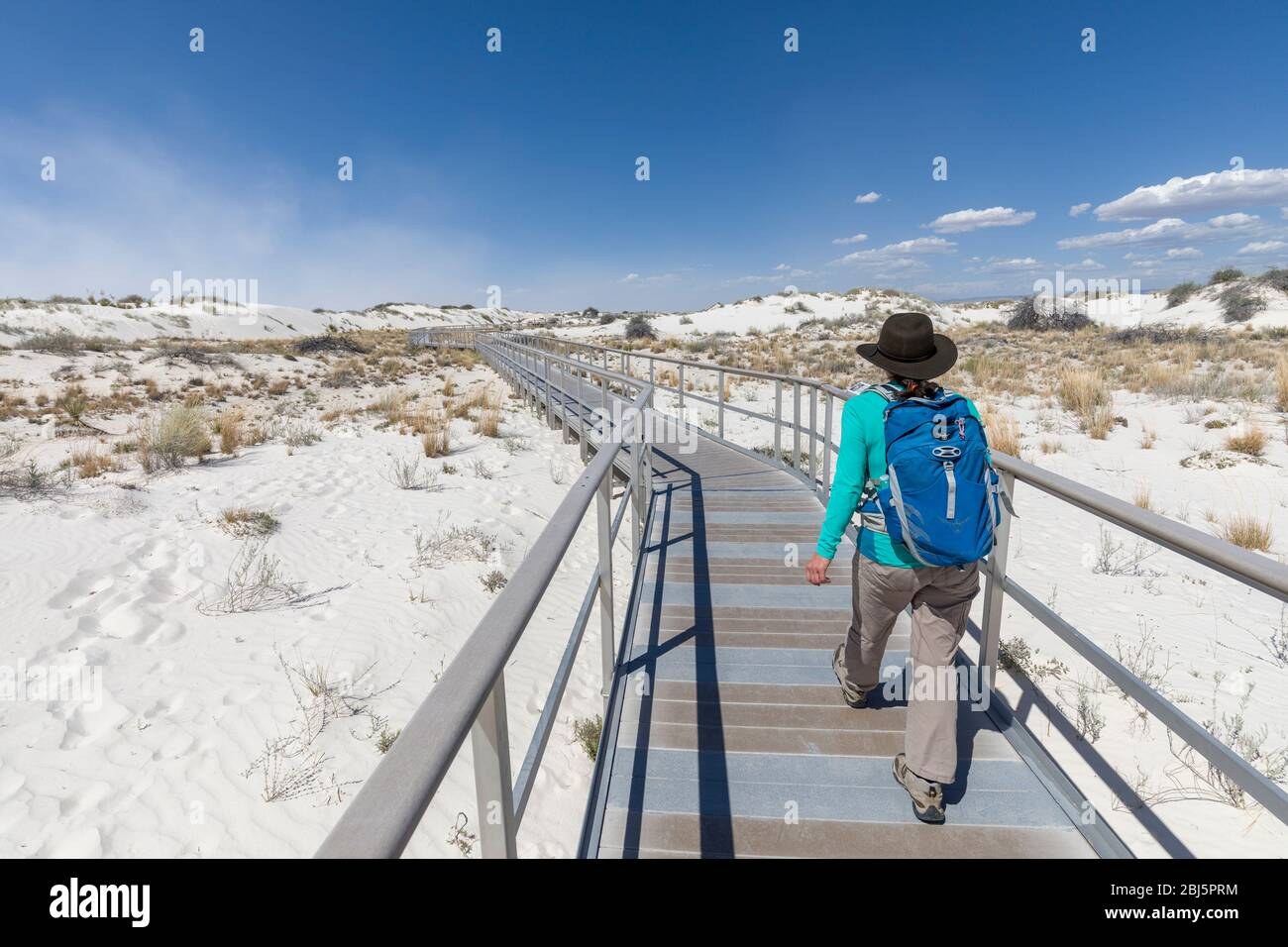 Boardwalk, White Sands, New Mexico, USA Stock Photo