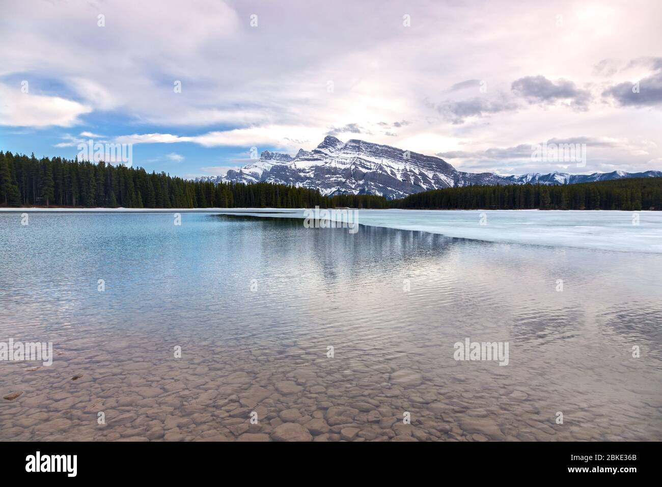 two-jack-mountain-lake-early-springtime-