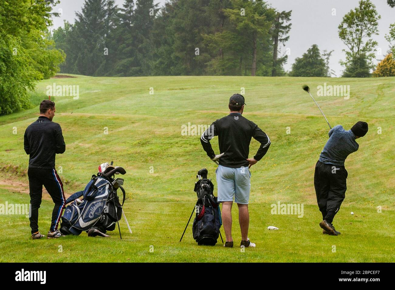 clonakilty-west-cork-ireland-18th-may-2020-clonakilty-golf-club-re-opened-today-as-part-of-the-exit-from-the-covid-19-lockdown-enjoying-the-first-day-back-to-the-fairways-whilst-maintaing-social-distancing-were-golf-club-members-sean-ryan-ross-mannix-and-owen-deasy-credit-ag-newsalamy-live-news-2BPCEF7.jpg