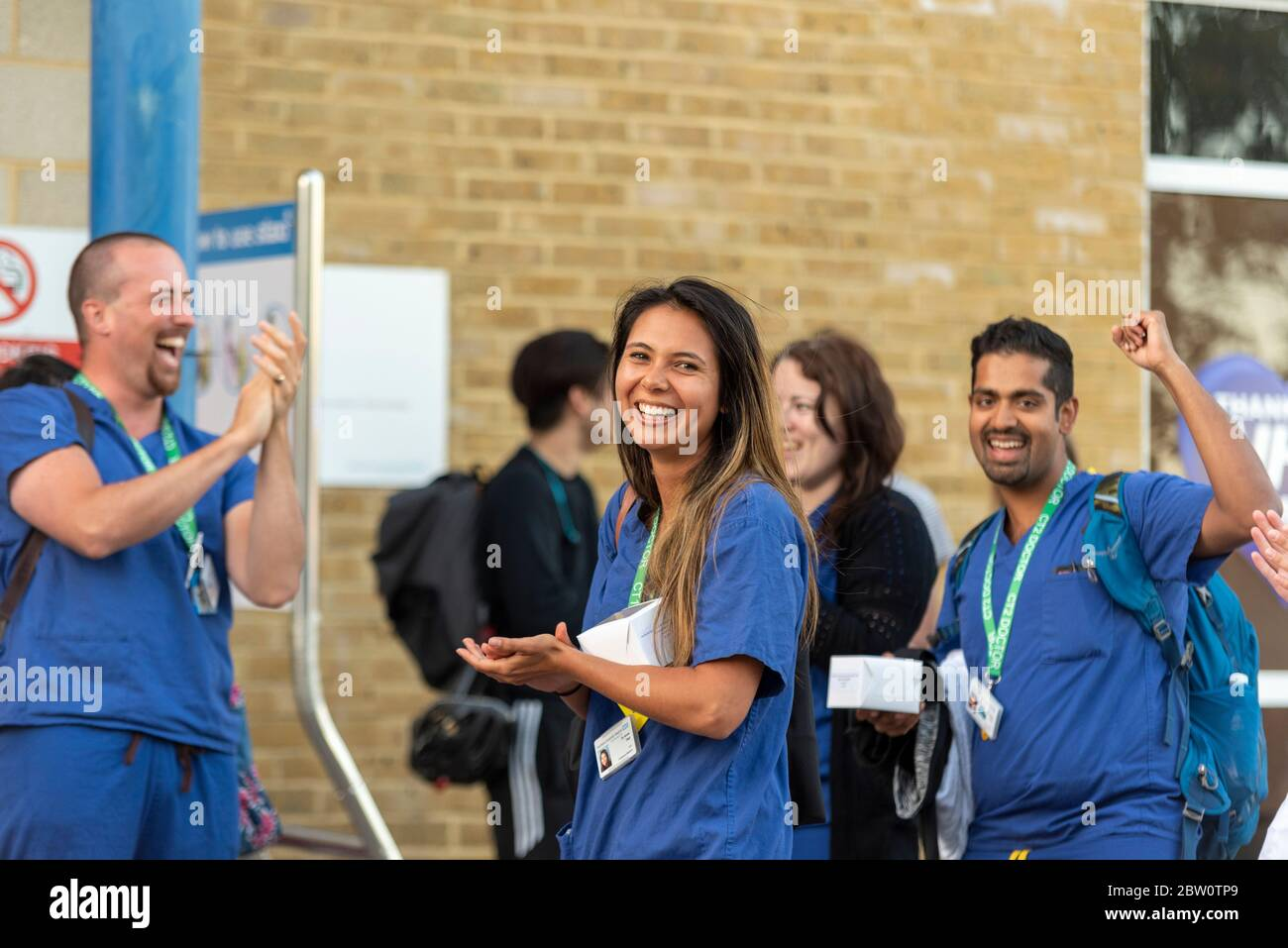 final-clap-for-carers-at-southend-university-hospital-essex-uk-at-8pm-on-thursday-evening-dr-anne-tear-female-doctor-in-scrubs-healthcare-staff-2BW0TP9.jpg