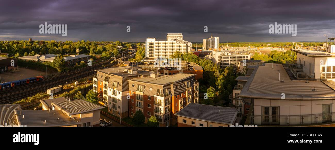an-aerial-overhead-panoramic-view-of-a-s