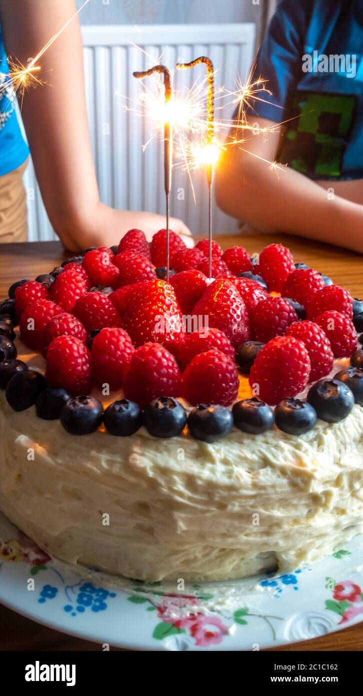 sparkler-candles-on-a-birthday-cake-decorated-with-fresh-summer-fruits-and-berries-2C1C162.jpg