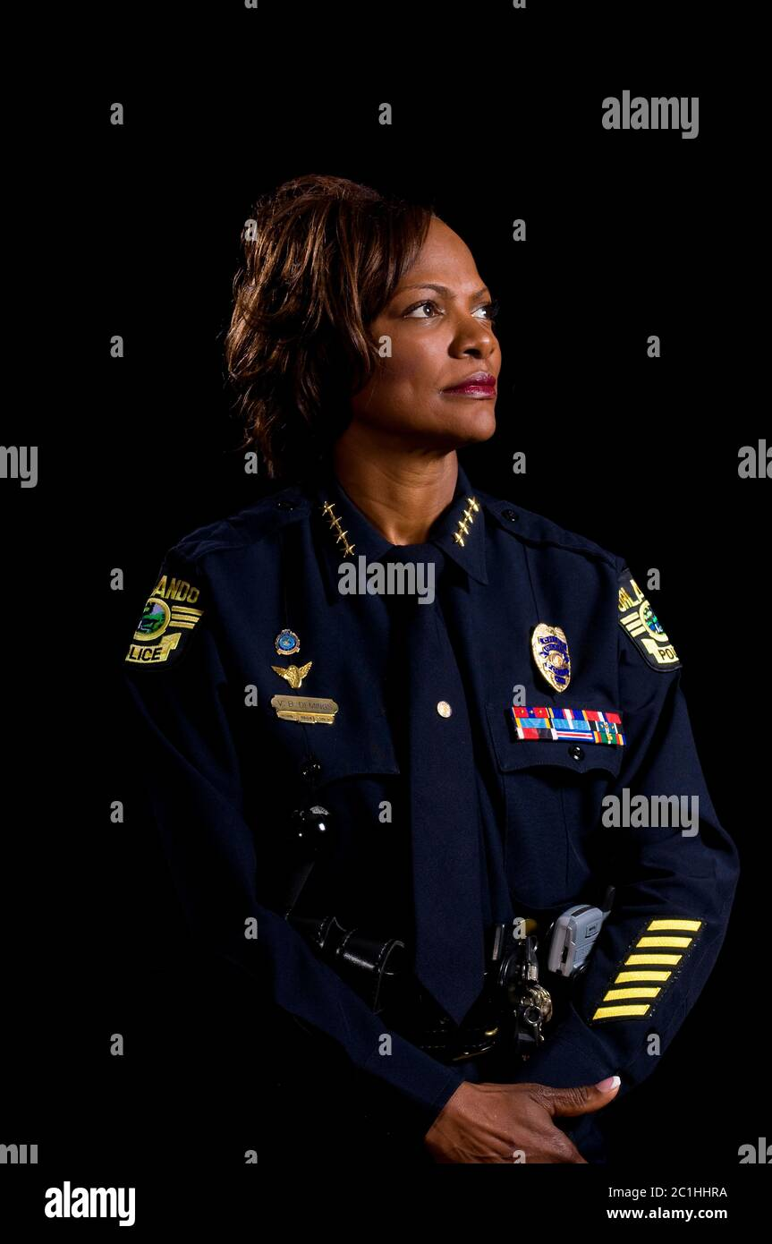 Orlando, Florida, USA. 21st May, 2008. Portrait of Rep. Val Demings (D-Fl) during her time as Chief of Police in Orlando, Florida taken on May 21, 2008. Zuma Press/ Scott A. Miller. Credit: Scott A. Miller/ZUMA Wire/Alamy Live News Stock Photo