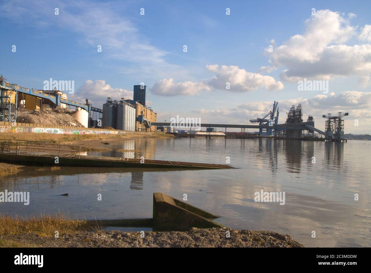 tilbury on the river thames in london Stock Photo